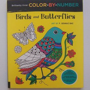 Birds and Butterflies COLOR-BY-NUMBER (NWT)